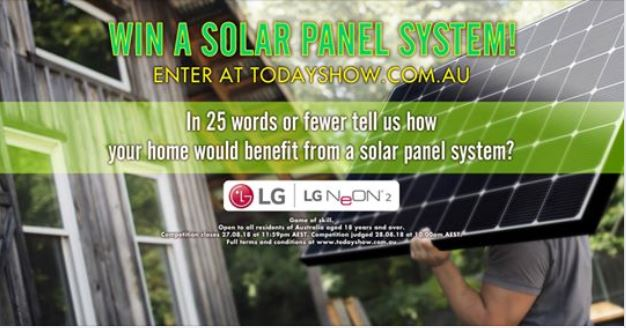 Today Show solar panel Competition: Win a solar panel system