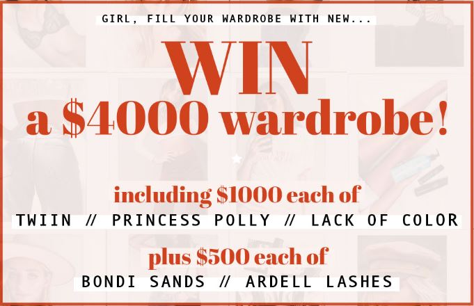 Princess Polly Competition: Win a $4000 wardrobe