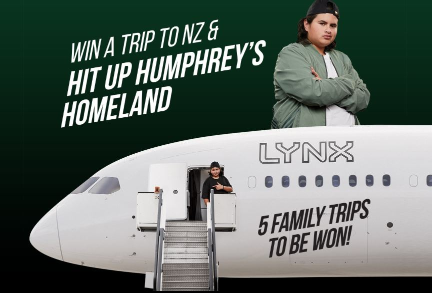 Win with Lynx Competition: Win 1 of 5 trips to New Zealand