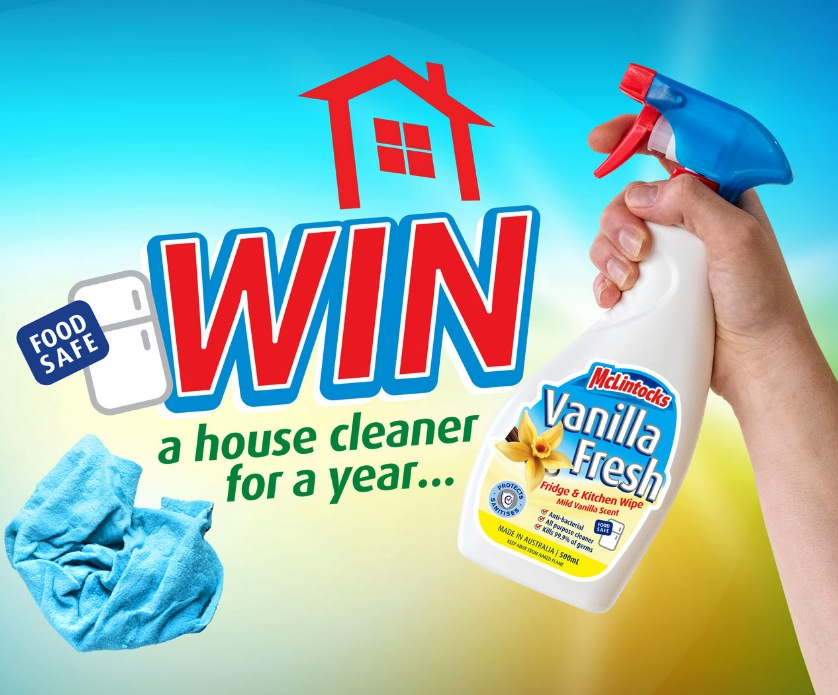 McLintocks Competition 2019: Win a house cleaner for a year at