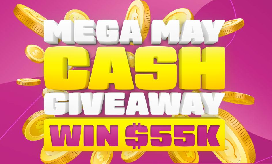 Ventraip Mega May Cash Giveaway: Win $55,000 atventraip com au/mega-may