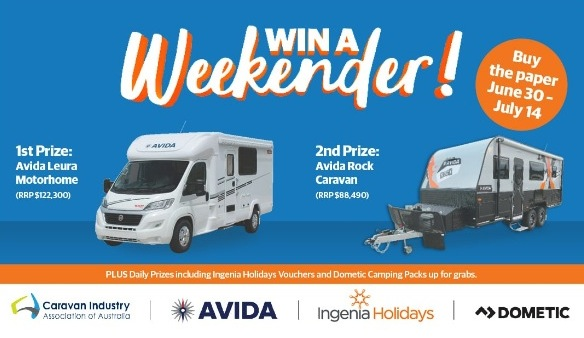 Win a Weekender Competition 2019: Enter the Daily Code Word and win