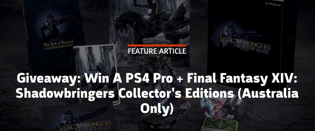 Gamespot Australia Competition: Win a PS4 Pro + Final